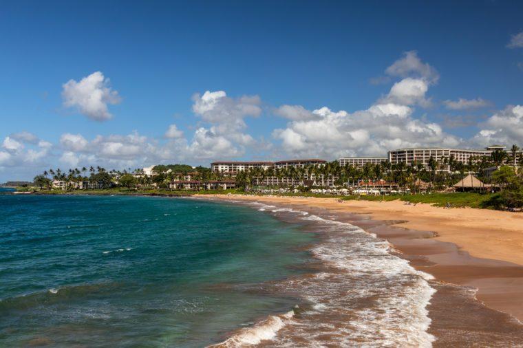 Beautiful beach at Wailea, Maui, Hawaii