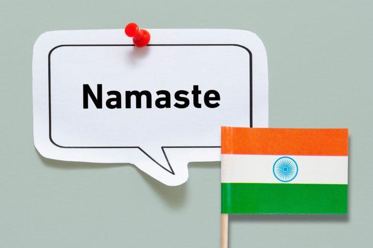 hello namaste hindi india