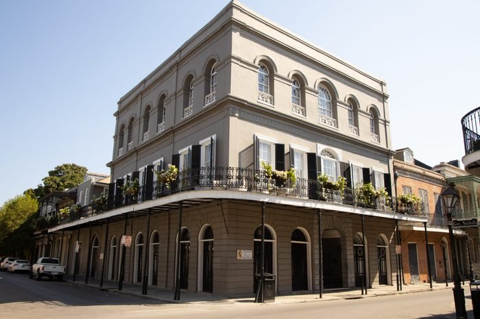 Haunted mansion in the French Quarter New Orleans