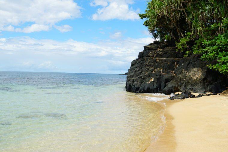 Hideaway Beach (Pali Ke Kua) on Kauai's north shore