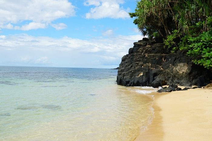 Hideaway Beach (Pali Ke Kua) on Kauai's north shore