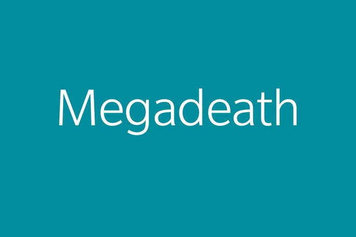 megadeath funny word Funny words