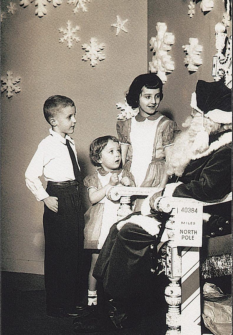 vintage santa photo