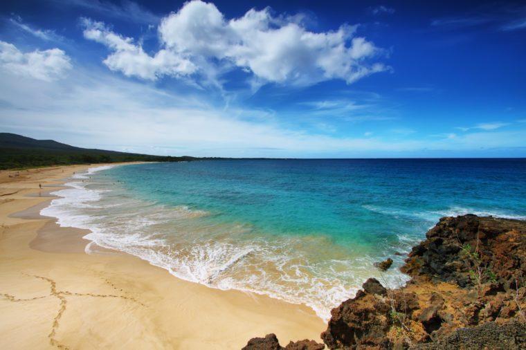 Big beach of Makena beach State park, Maui, Hawaii