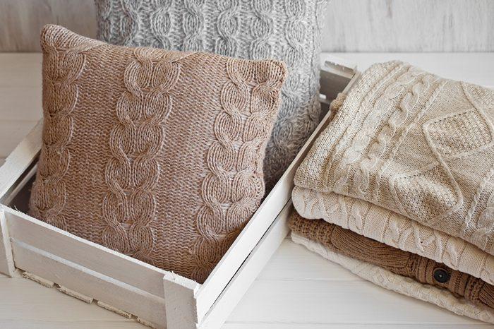 Cozy wool winter accessory. Warm sweaters