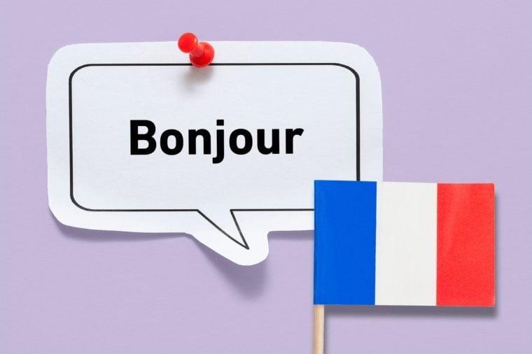 hello bonjour french france