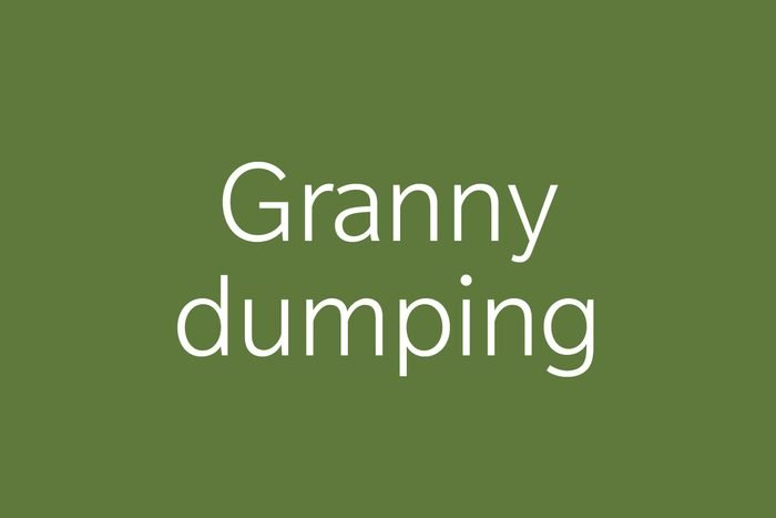 granny dumping funny word funny words to say