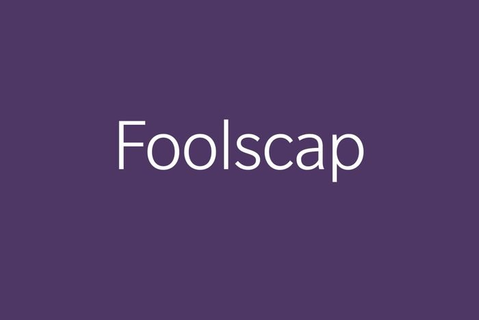 foolscap funny word funny words to say