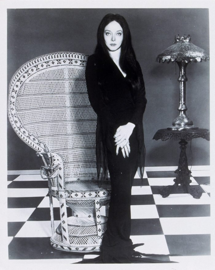 Editorial use only Mandatory Credit: Photo by Snap/Shutterstock (390873nm) FILM STILLS OF 'ADDAMS FAMILY - TV' WITH 1964, CHARACTER, CAROLYN JONES, MORTICIA FRUMP ADDAMS IN 1964 VARIOUS