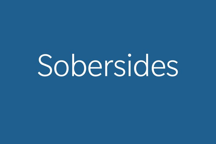 sobersides funny word funny words to say