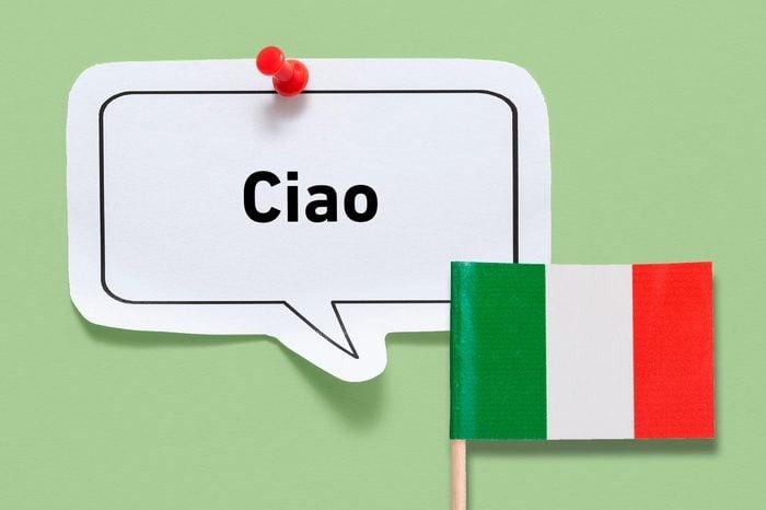 hello ciao italian italy