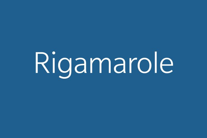 rigamarole funny word funny words to say