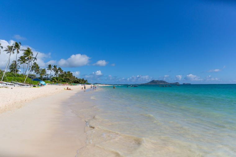 Lanikai beach in Oahu island.