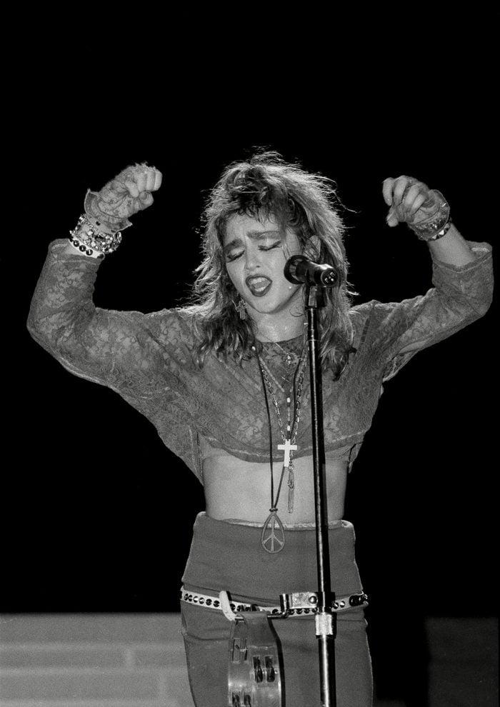 Mandatory Credit: Photo by Mario Suriani/AP/Shutterstock (6561668c) Madonna Ciccone Pop star Madonna performs on stage at New York's Radio City Music Hall Madonna, New York, USA