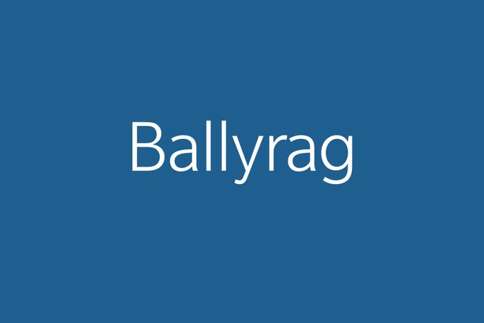 ballyrag funny word funny words to say