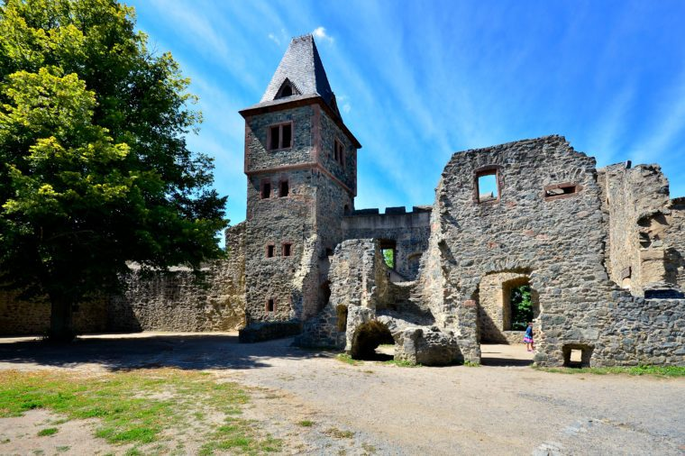 "castle ""Frankenstein"" Odenwald , Germany"