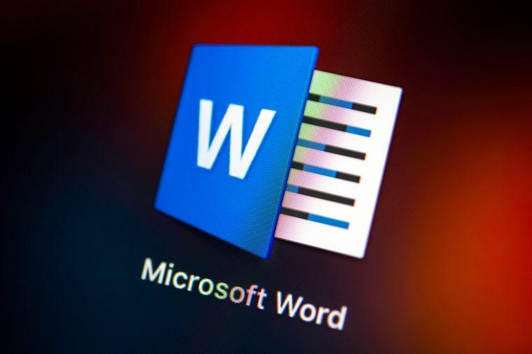 Icon, Logo, Microsoft Word, Text Edigate, Macro shot, Detail, full frame, screen shot