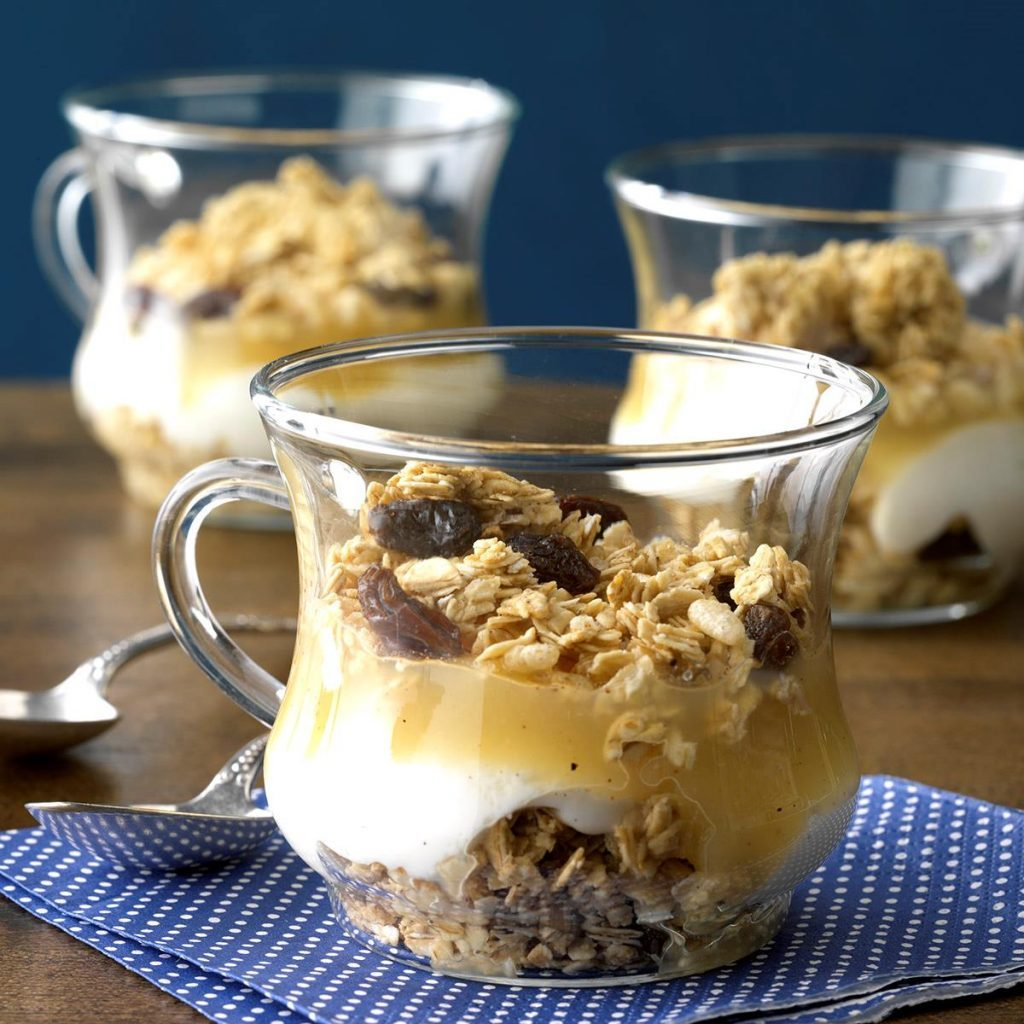 taste of home apple yogurt parfaits