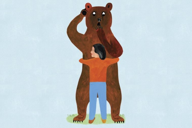 bear hug illustration by ellen weinstein