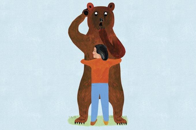 bear hug illustration by ellen weinstein