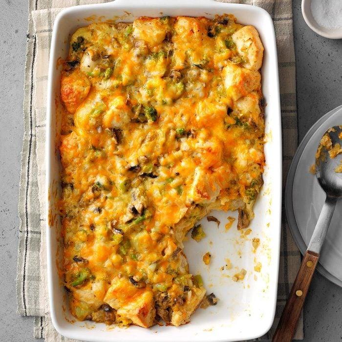 Virginia: Broccoli-Mushroom Bubble Bake