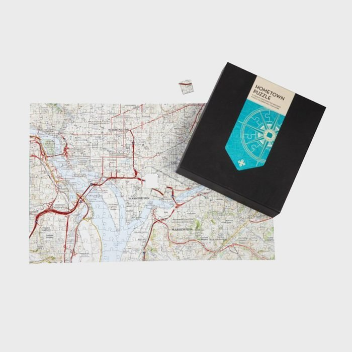 Butler And Hill Custom Hometown Map Puzzle