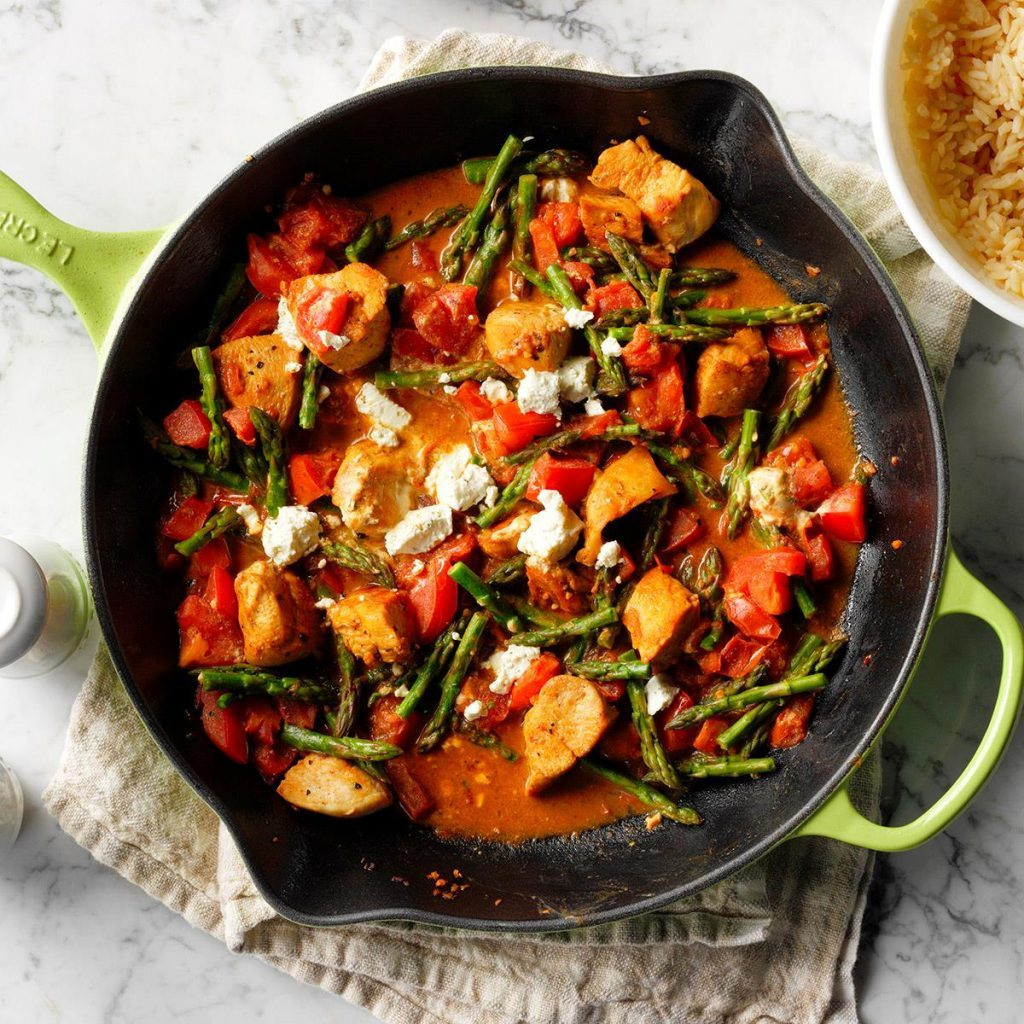 taste of home chicken and goat cheese skillet
