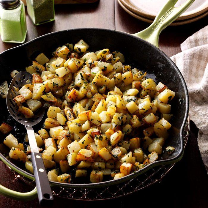 New Jersey: Cilantro Potatoes