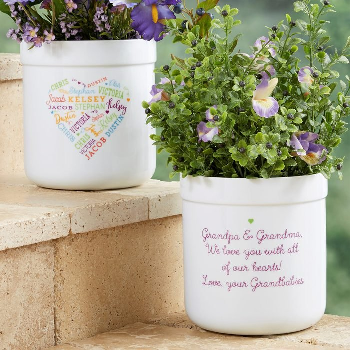 Close To Her Heart Personalized Outdoor Flower Pot