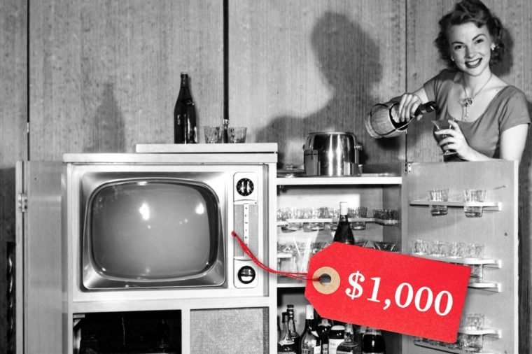 color tv cost 1950s