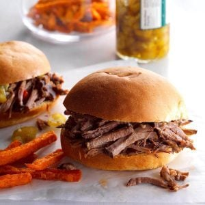 Wisconsin: Dilly Beef Sandwiches