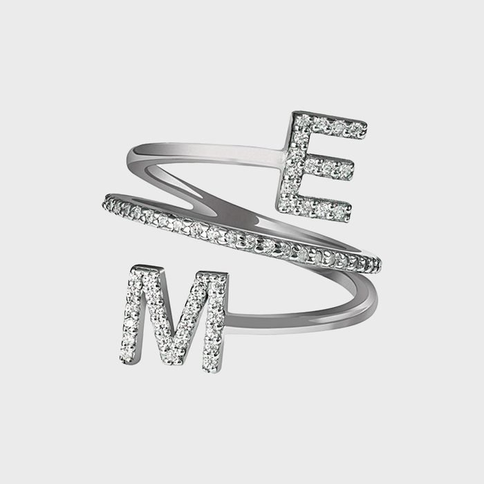 Elise Paige Double Initial Twist Ring