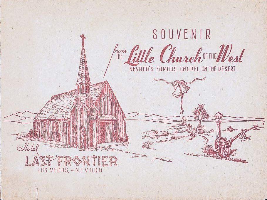 The Little Church of the West Souvenir card
