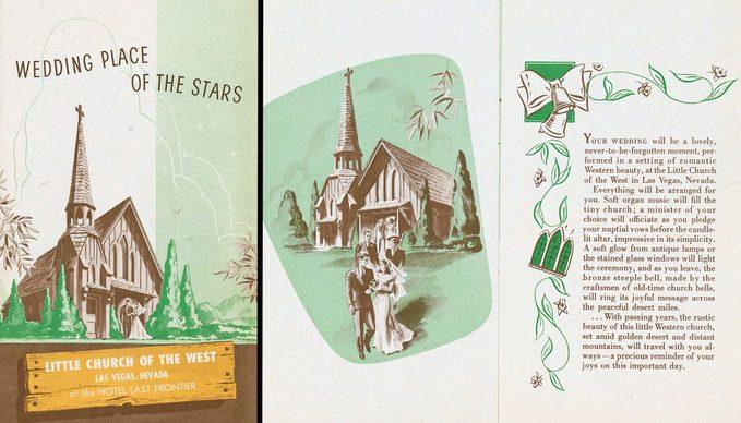 Vegas Wedding Pamphlet 1950s