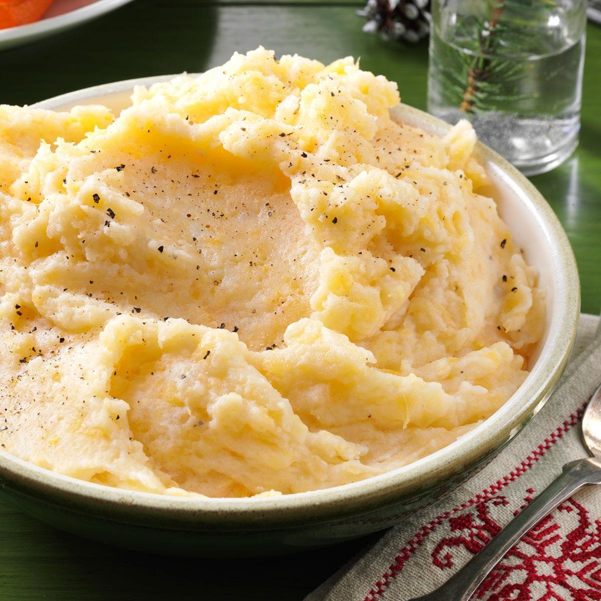 Louisiana: Garlic-Mashed Rutabagas & Potatoes
