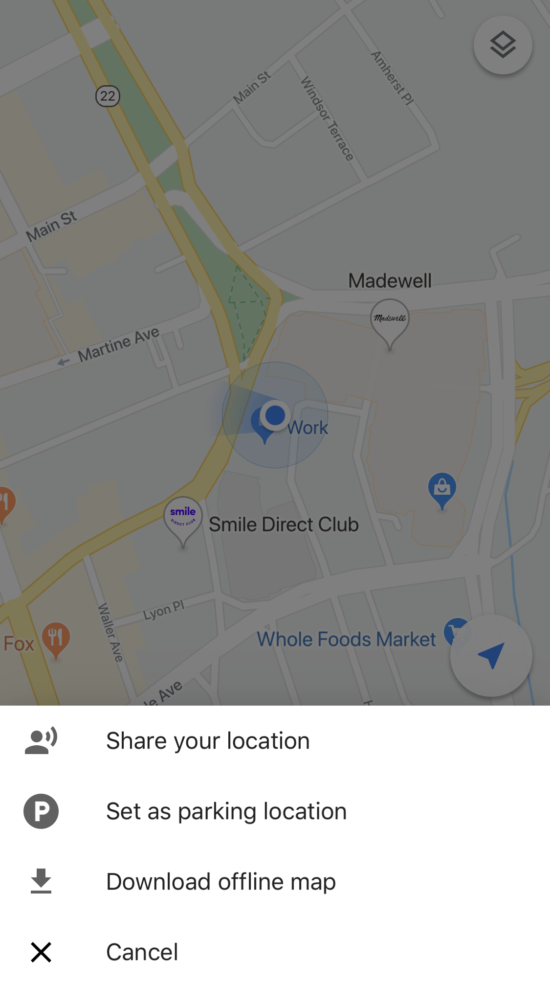 google maps share your location