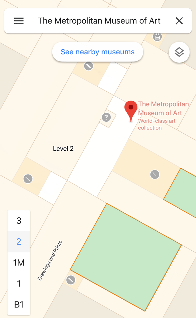 navigate your location indoors google maps