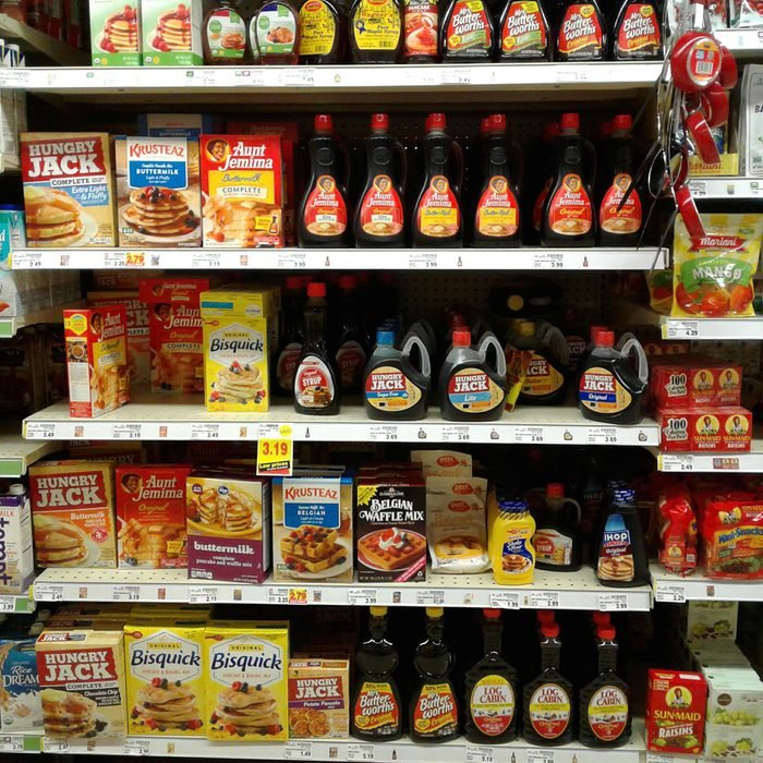Maple syrup in grocery store