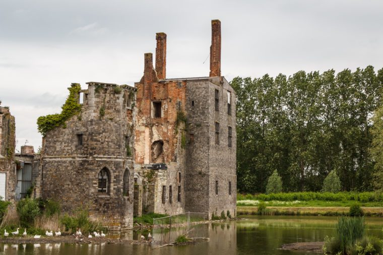 Ruins of the abandoned Havre castle, Belgium