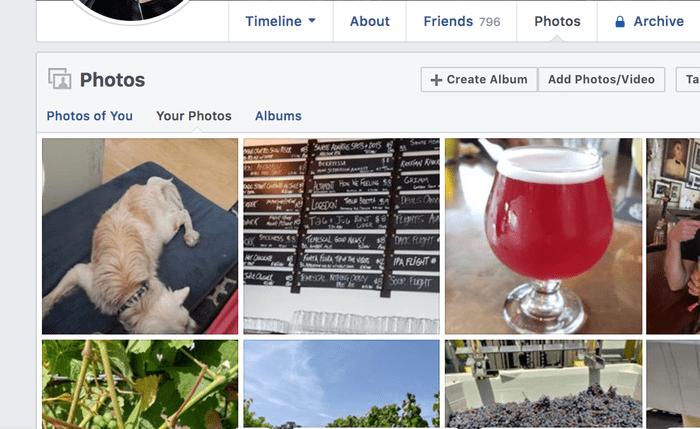 Facebook Profile Screenshot