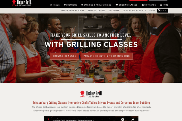 weber grill classes