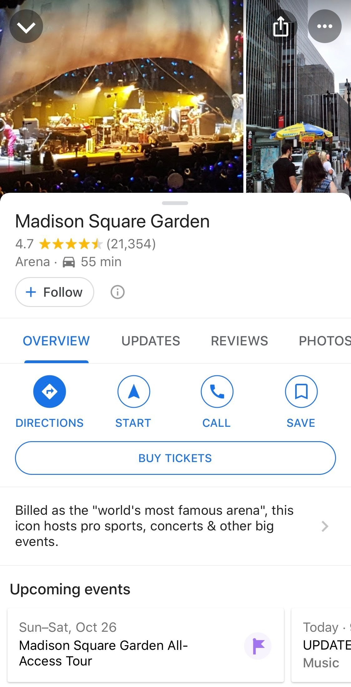 google maps buy tickets