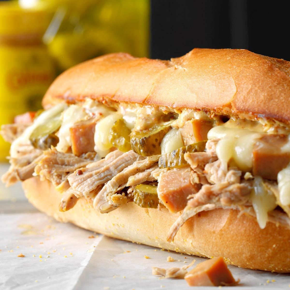 Slow Cooker Cubano Sandwich