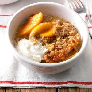 Virginia: Slow Cooker Peach Crumble