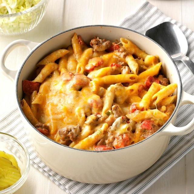 taste of home stovetop cheeseburger pasta