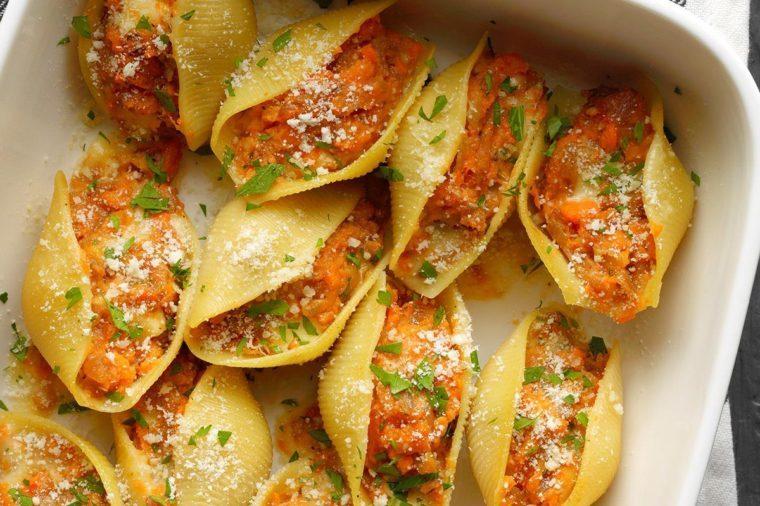 Rhode Island: Sweet Potato & Caramelized Onion Shells