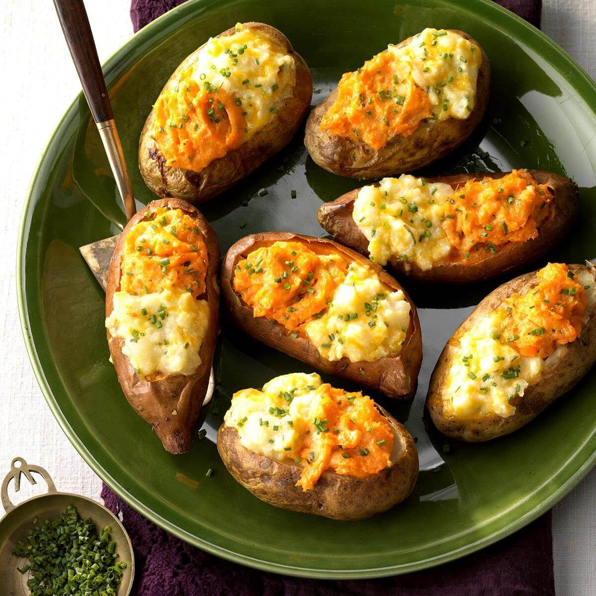Nebraska: Two-Tone Baked Potatoes