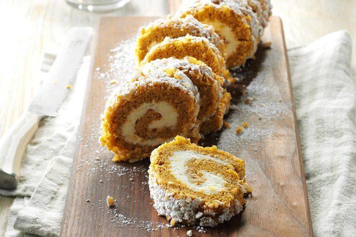 Walnut Pumpkin Cake Roll