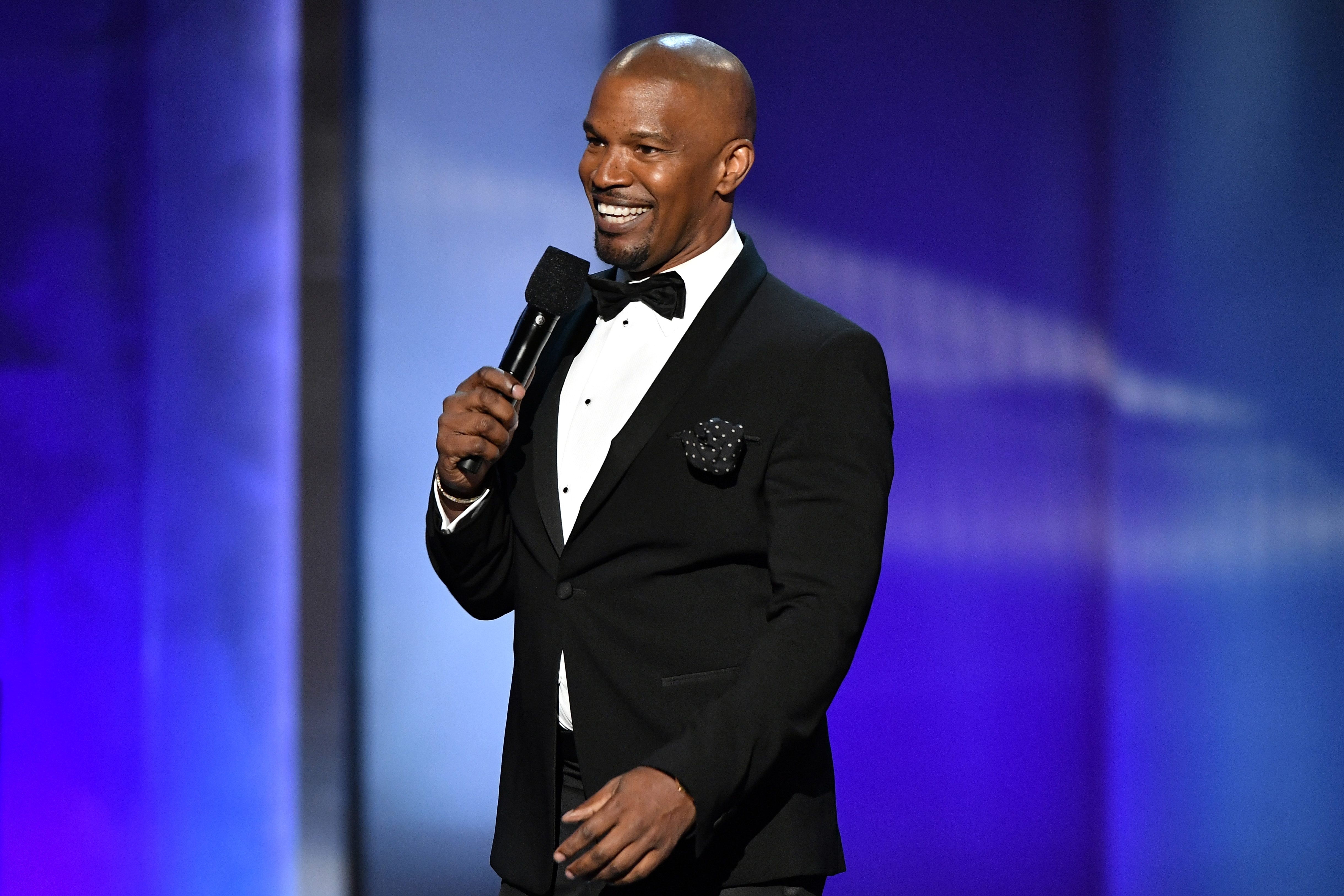 Mandatory Credit: Photo by Rob Latour/Shutterstock (10286629t) Jamie Foxx AFI Honors Denzel Washington, Show, Dolby Theatre, Los Angeles, USA - 06 Jun 2019