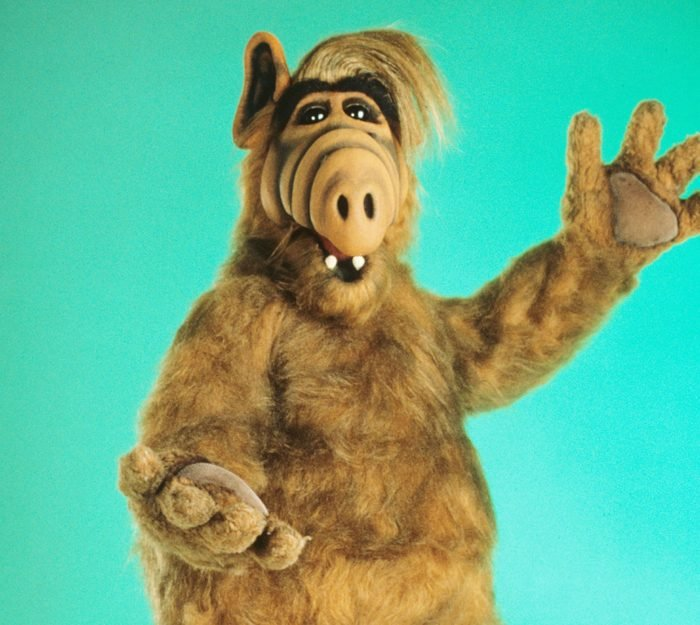 Editorial use only. No book cover usage. Mandatory Credit: Photo by Nbc/Kobal/Shutterstock (5877502f) Alf (1986-1990) Alf - 1986-1990 NBC USA Television Alien Life Form / A.L.F.